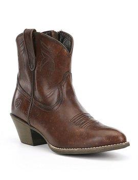 Darlin Western Block Heel Booties by Generic