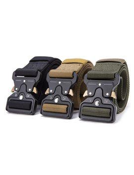 Fralu  Hot Mens Tactical Belt Military Nylon Belt Outdoor Multifunctional Training Belt High Quality Strap Ceintures Width 3.8 by Fralu