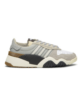Grey Turnout Trainer Sneakers by Adidas Originals By Alexander Wang