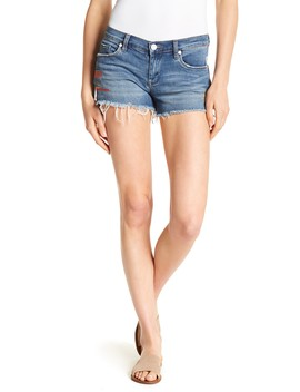 The Astor Embroidered & Frayed Shorts by Blanknyc Denim