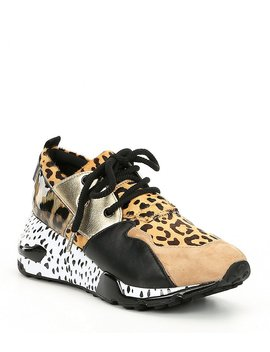 Cliff Animal Print Sneakers by Generic