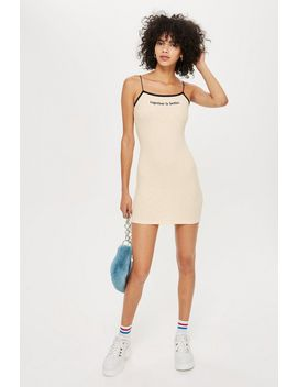 'together Is Better' Mini Bodycon Dress by Topshop