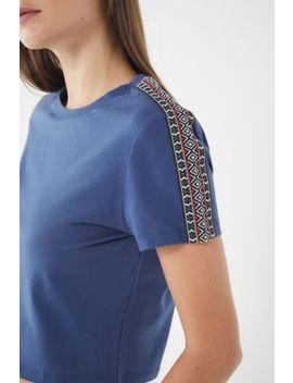 Uo Merton Cropped Short Sleeve Tee by Urban Outfitters