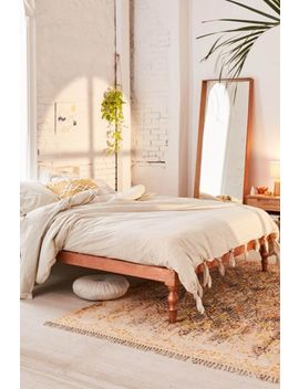 Washed Cotton Striped Knot Duvet Cover by Urban Outfitters