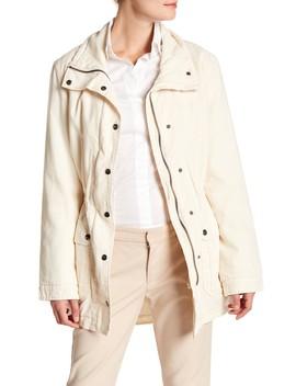 Arlene Linen Blend Funnel Collar Jacket by Velvet By Graham & Spencer