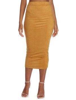 Set In Suede Pencil Skirt by Windsor