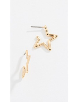 Scrunched Scallops Mini Star Hoops by Kate Spade New York