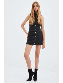 Sleeveless Denim Dress  New Intrf by Zara