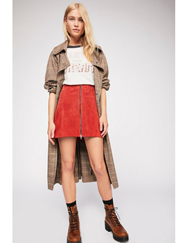 Bankroll Suede Skirt by Free People