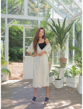 Lace Trim Robe by Stylenanda