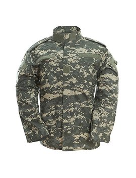 Tacvasen Men's Army Military Camouflage Digital Combat Uniform Shirt Top Jacket Blouse by Tacvasen