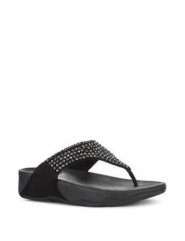 Glitzie Crystal Embellished Thong Sandals by Fitflop