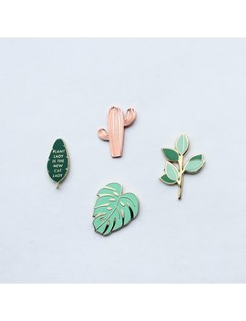 The Plant Pin Pack Vol. 1 | Lapel Pins by Hemleva
