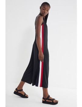 Uo Karina Side Stripe Wide Leg Jumpsuit by Urban Outfitters