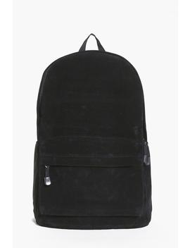 Suedette Rucksack With Front Zip Pocket by Boohoo