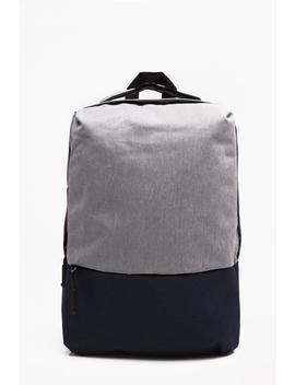 Heavy Nylon Twill Smart Rucksack by Boohoo