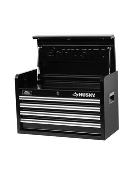 26 In. W 4 Drawer Tool Chest, Black by Husky