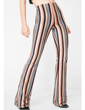 Down The Line Striped Pants by Wild Honey