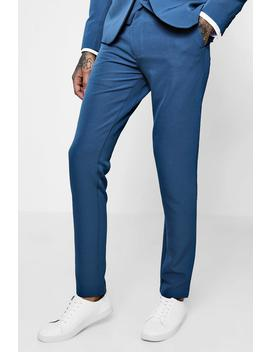 Skinny Fit Stretch Suit Trousers by Boohoo