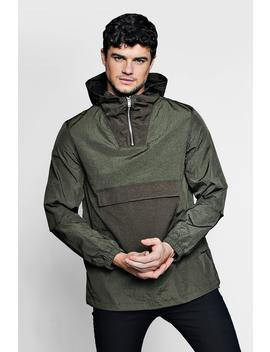 Hooded Cagoule With Front Pocket by Boohoo