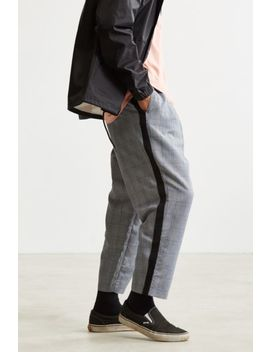 Uo Side Stripe Checkered Menswear Pant by Urban Outfitters