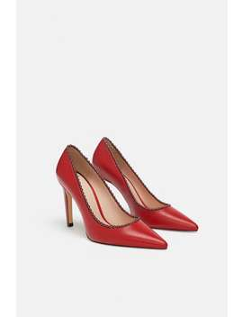 Beaded Leather Pumps  View All Shoes Woman by Zara