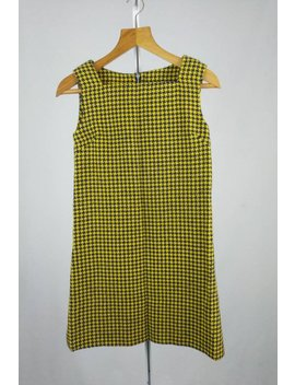 Vintage Yellow Houndstooth Shift Dress by Messy Essie Vintage