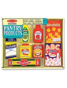 Melissa & Doug® Wooden Pantry Products Play Food Set (9pc) by Shop All Melissa & Doug