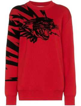 Givenchyflying Cat Jacquard Jumperhome Women Givenchy Clothing Knitted Sweaters by Givenchy