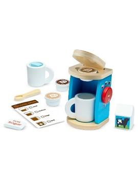 Melissa & Doug® 11 Piece Brew And Serve Wooden Coffee Maker Set   Play Kitchen Accessories by Shop All Melissa & Doug
