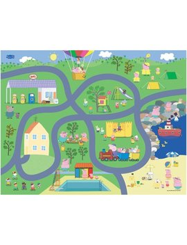 Tcg Toys Peppa Pig Jumbo Mega Mat Play Mat W/ 2 Bonus Vehicles by Peppa Pig