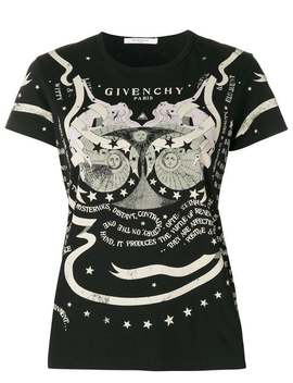 Givenchygraphic Print T Shirthome Women Givenchy Clothing T Shirts & Jersey Shirts Le Carre Spiral Square Earringshigh Waisted Faux Leather Wrap Skirtgraphic Print T Shirt by Givenchy