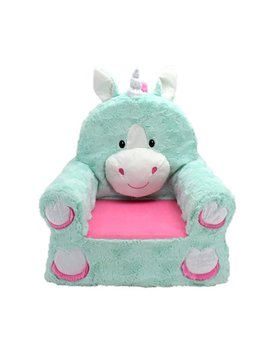 "Sweet Seats Adorable Teal Unicorn Children's Chair Ideal For Children Ages 2 And Up, Machine Washable Removable Cover,13"" L X 18"" W X 19"" H by Sweet Seats"