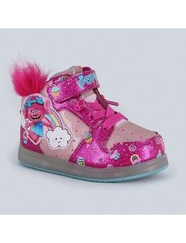 Toddler Girls' Trolls Ligh Up High Top Sneakers by Shop All Trolls