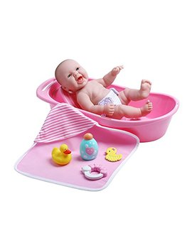 "Jc Toys La Newborn Realistic Baby Doll Bathtub Gift Set Featuring 13"" All Vinyl Newborn Doll (8 Piece) by Jc Toys"
