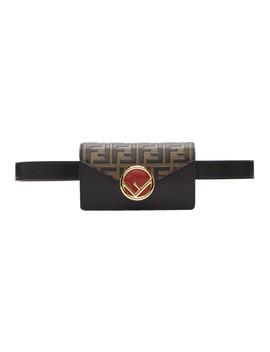 Black 'f Is Fendi' Belt Bag by Fendi