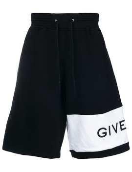 Oversized Asymmetric Logo Track Shorts by Givenchy