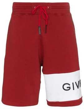 Logo Band Cotton Track Shorts by Givenchy