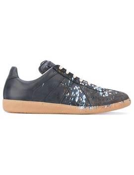 Maison Margiela Grey Paint Splatter Replica Sneakershome Men Maison Margiela Shoes Low Tops by Maison Margiela