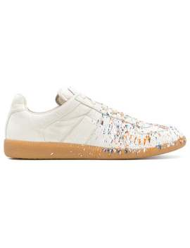 Maison Margielapaint Spatter Sneakershome Men Maison Margiela Shoes Low Tops by Maison Margiela