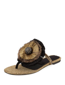 Zarina Flat Thong Sandal by Sanayi313