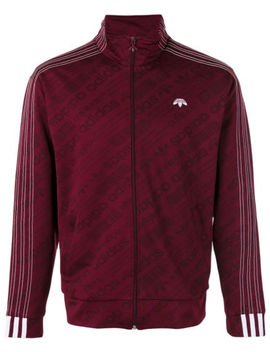 Adidas Originals Alexander Wang Jaquard Track Top Maroon Red Sz. S by Alexander Wang