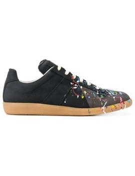 Maison Margiela Replica Paint Splatter Sneakershome Men Maison Margiela Shoes Low Tops by Maison Margiela