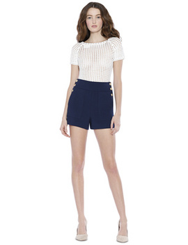 Donald High Waisted Shorts by Alice And Olivia