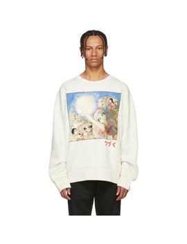 White Manga Sweatshirt by Gucci