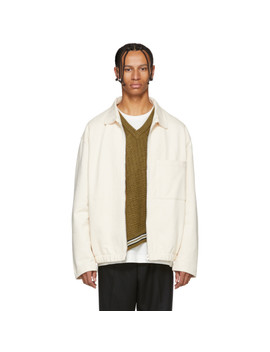 White Jersey Jacket by Lemaire
