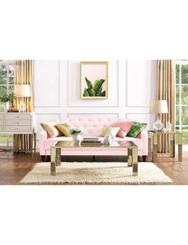 Elegant 3 Easy To Convert Positions Vintage Tufted Sofa Sleeper Ii, Pink Velour by Novogratz