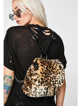 Rebel Kitty Leopard Backpack by Current Mood