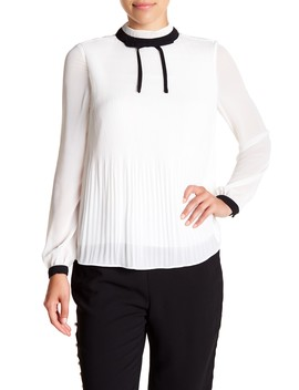 Pleated High Neck Bow Top by Ted Baker London