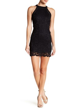 Glitter Halter Lace Dress by Jump